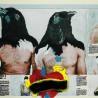 Splice 6 (OOing the Chimera Decode), 2008 Journal, impression, peinture à l'huile, peinture acrylique, crayon